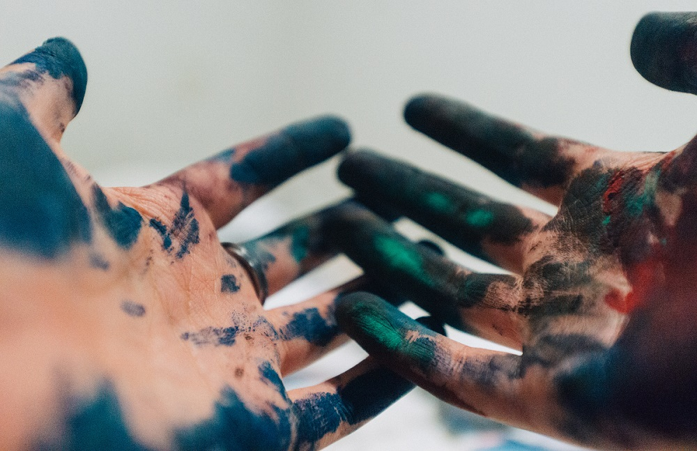 how to get printer ink off your hands